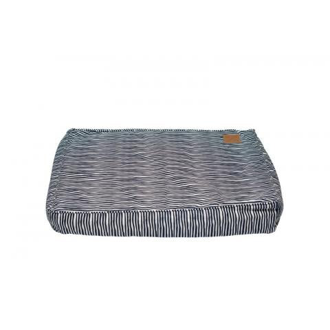 Zz M&B Classic Cushion Bed Blue Strp Sml
