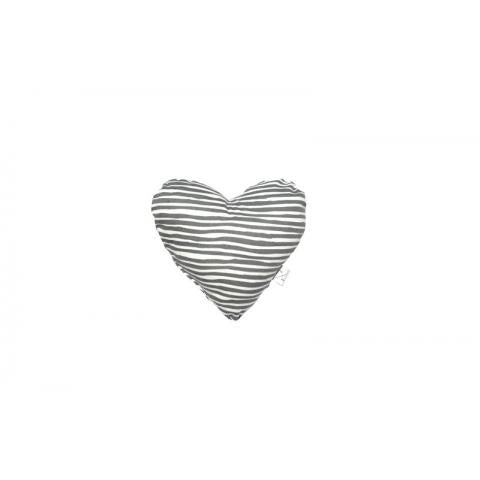 M&B Heart Shaped S/Toy Grey Stripe