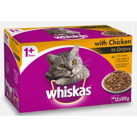 Whiskas Fav Chicken Gravy Mvms 12X85G