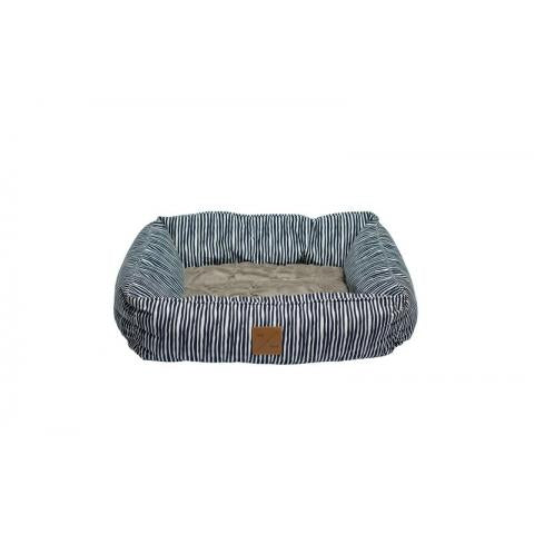 M&B Bolster Bed Blue Stripe Lrg
