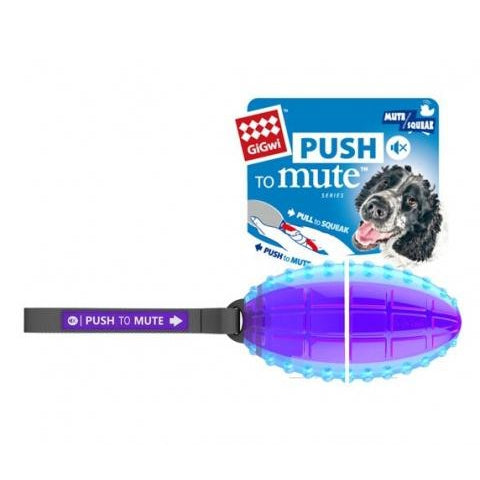 Gigwi Rugby Ball Push To Mute Trans Purple/Blue