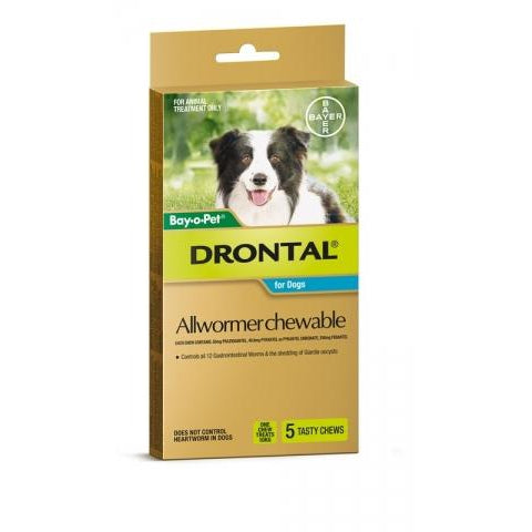 Drontal Dog 10Kg Chewable 5S
