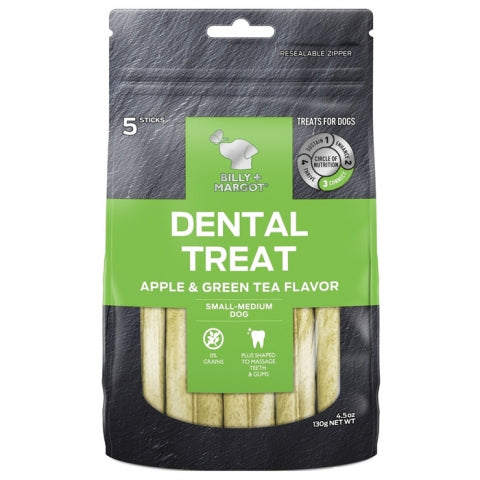 Billy & Margot Dent Stick Apple Small Breed 5Pk Dog Treats