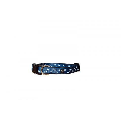 M&B Neoprene Collars Blue Dog Med