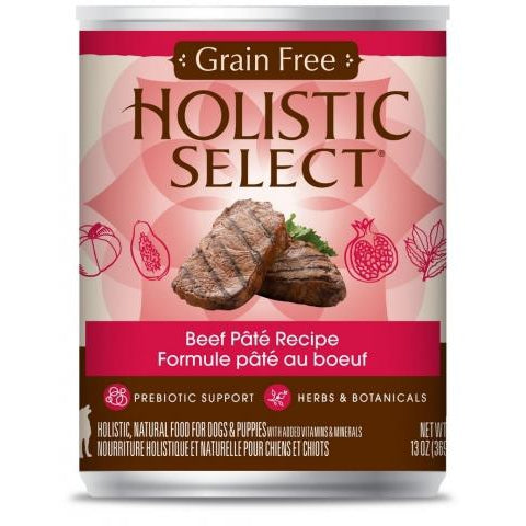 Holistic Select Grain Free Beef 369Gm X12