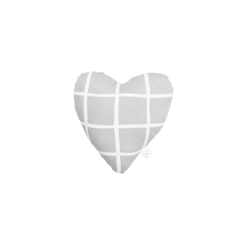 M&B Soft Toy Heart Grey Check