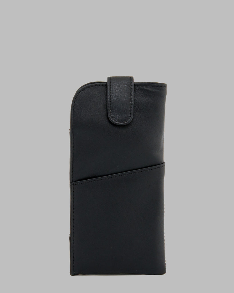 1642 Leather Glasses Case Black A
