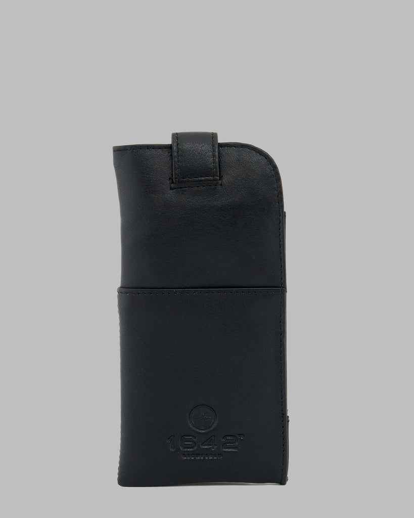 1642 Leather Glasses Case Black C