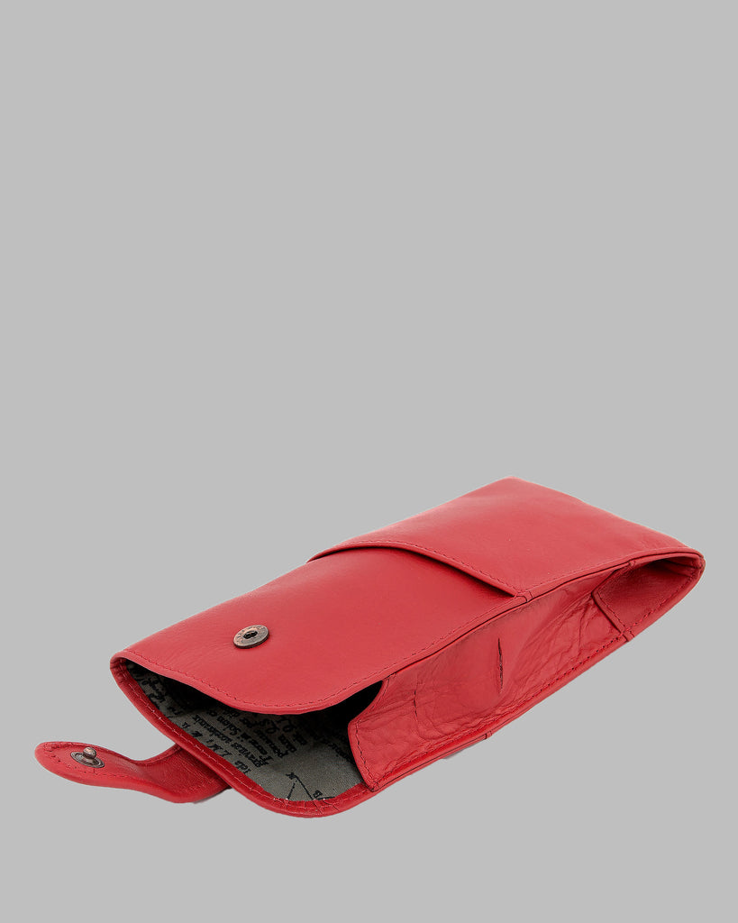 1642 Leather Glasses Case Poppy D