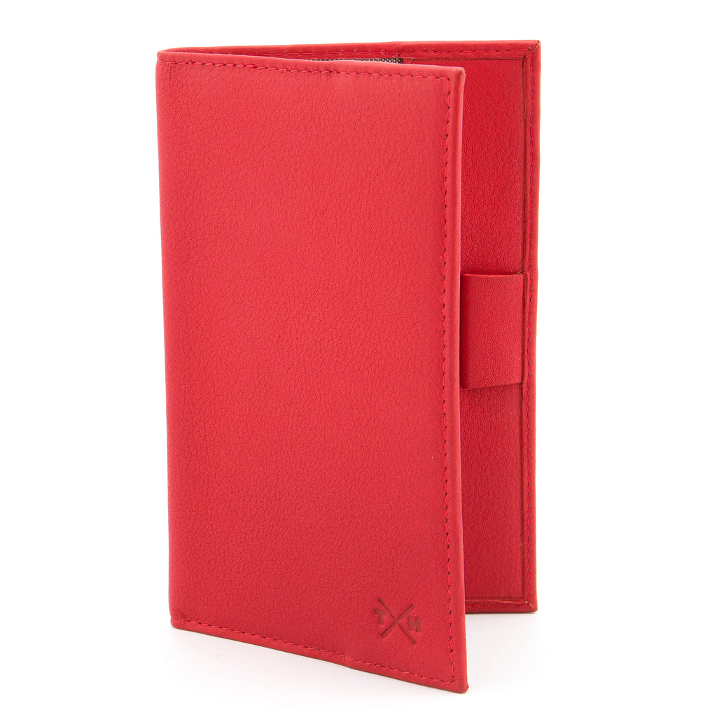Newton Red Leather Golf Scorecard Holder By Tumble And Hide - Yoshi
