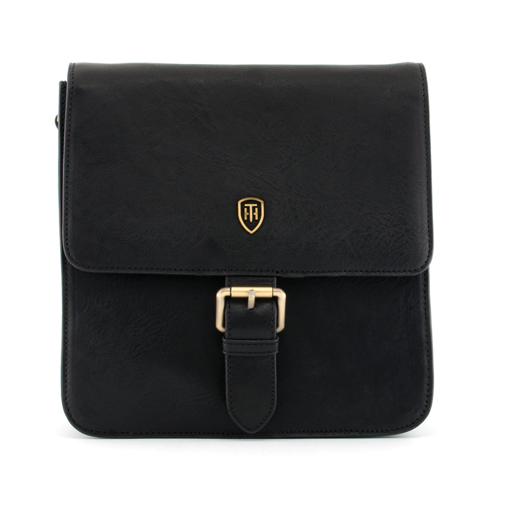Novaro Black Leather Cross Body Bag by Tumble & Hide