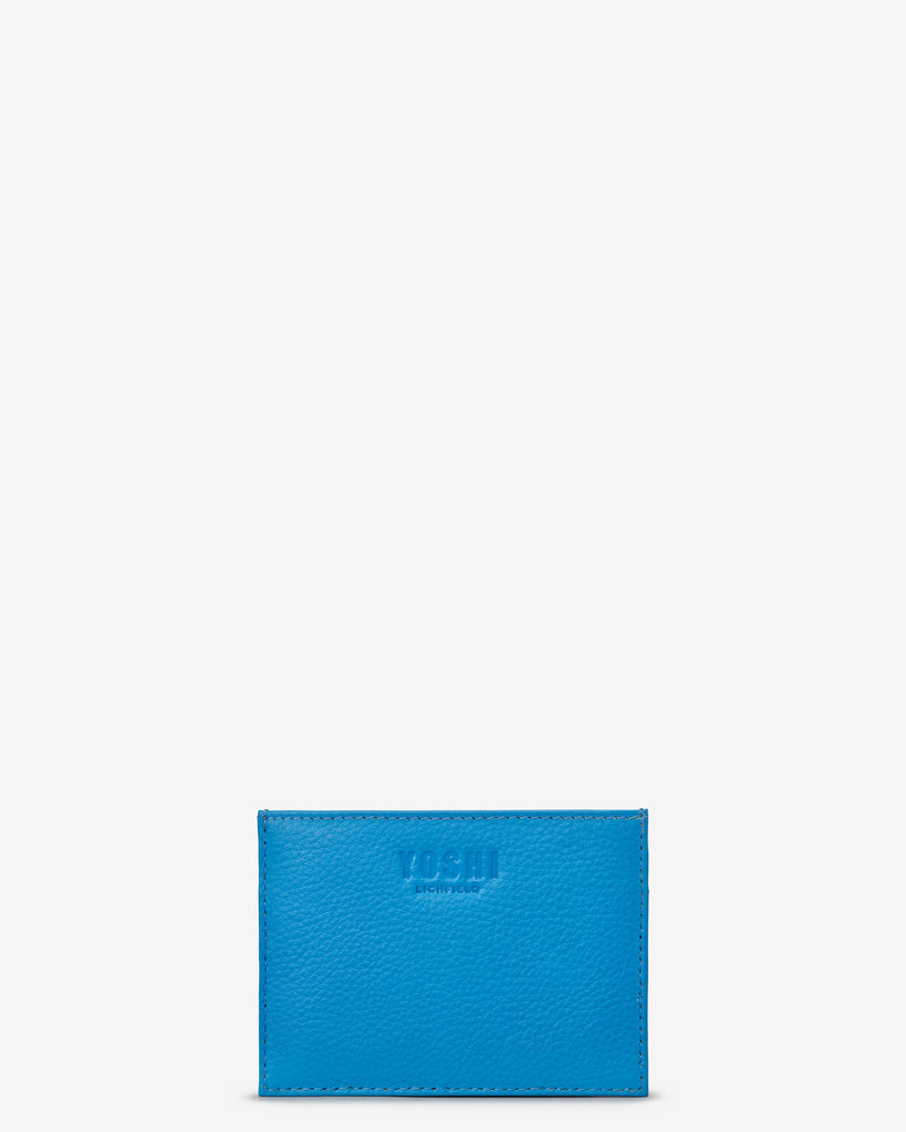 Cobalt Blue Leather Academy Card Holder - Yoshi