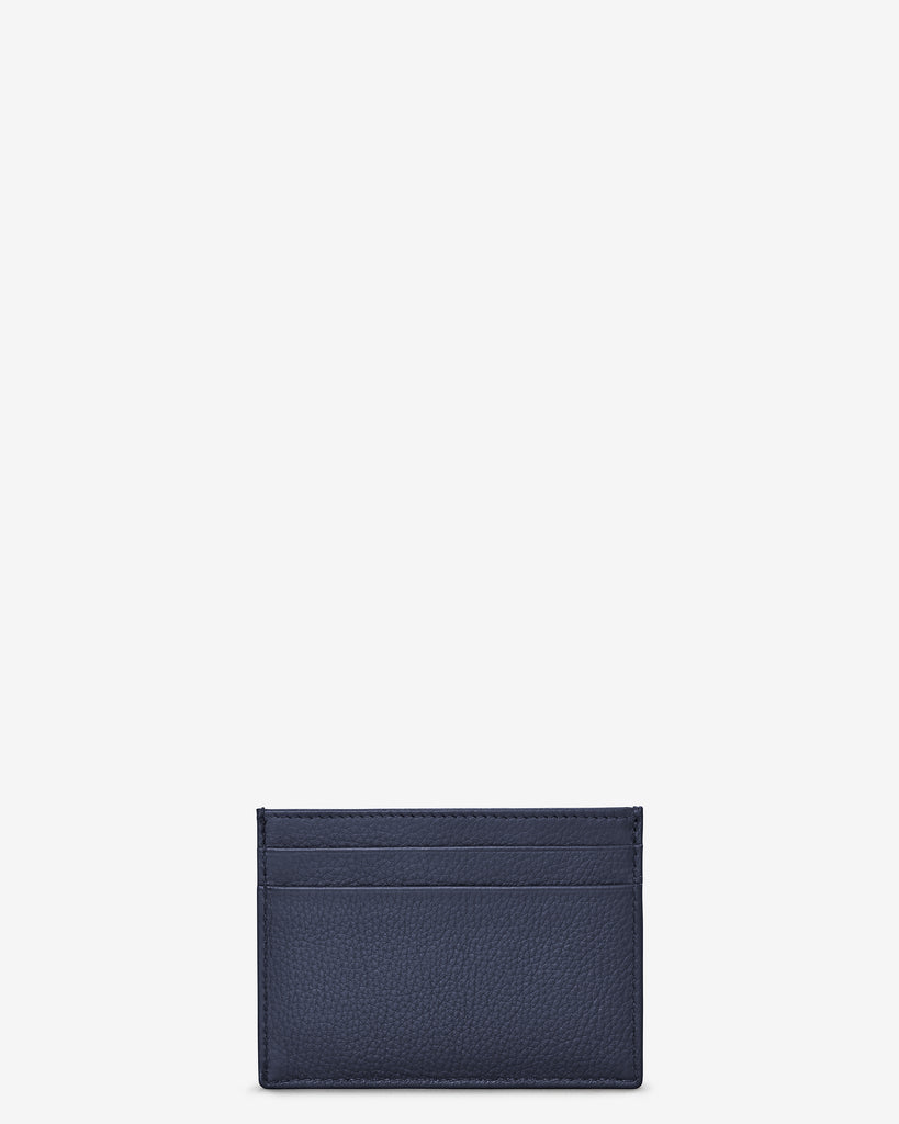 Navy Leather Academy Card Holder - Yoshi