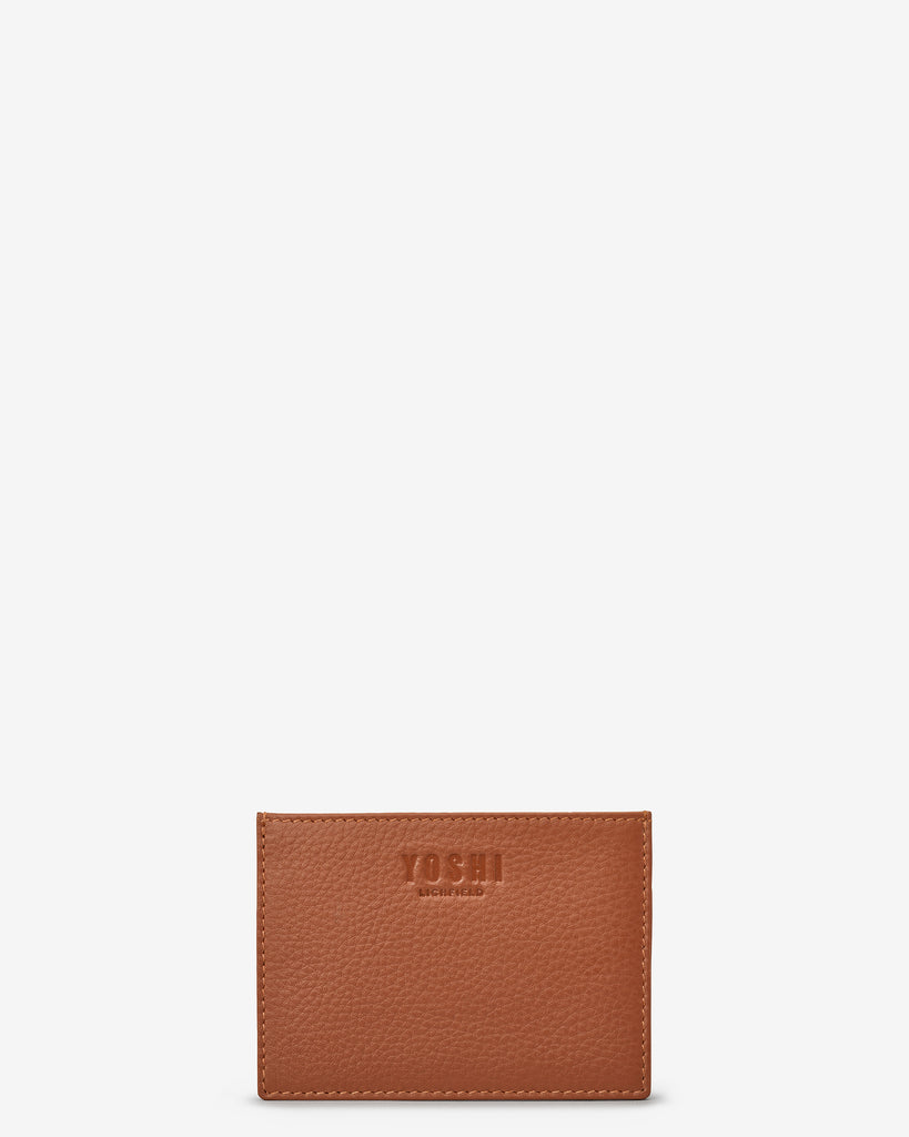 Tan Leather Academy Card Holder - Yoshi