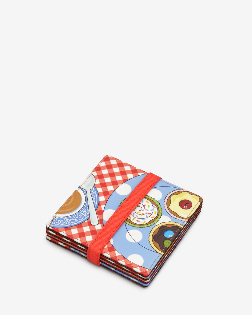 Afternoon Tea Leather Coaster Set -  - Yoshi