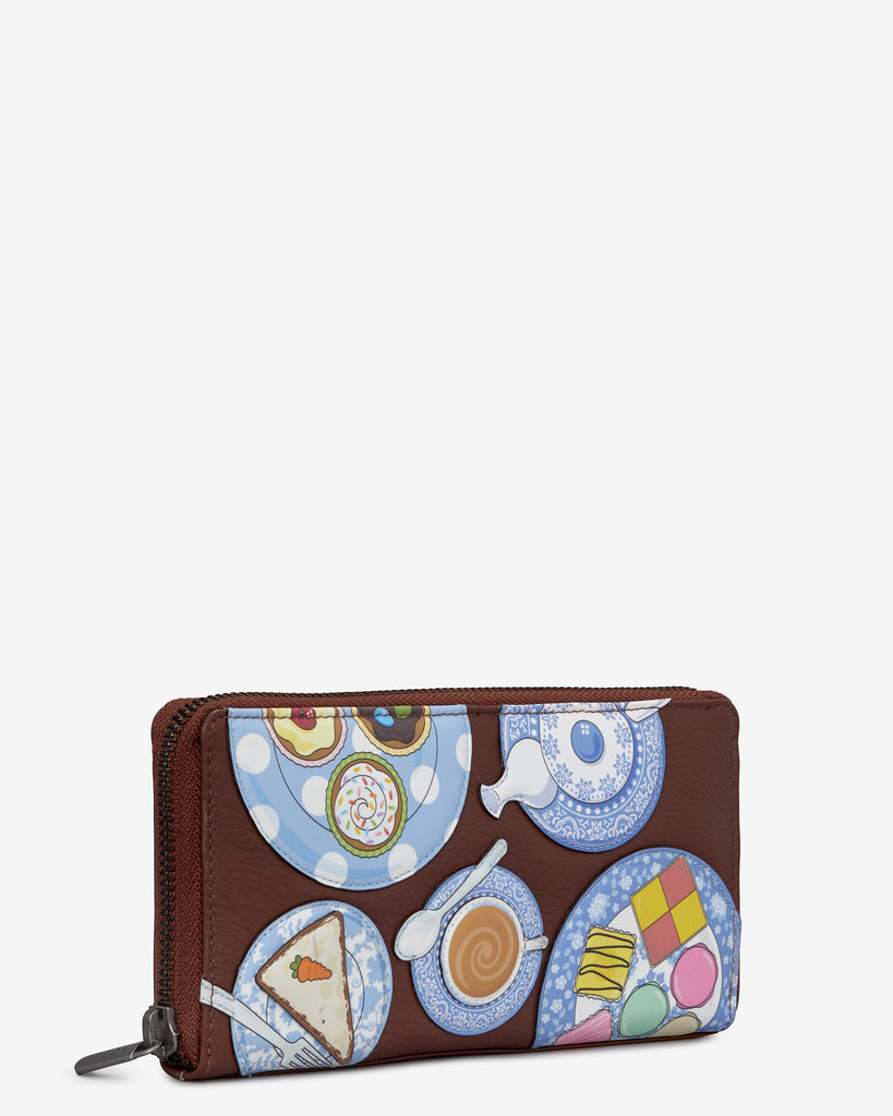 Afternoon Tea Brown Leather Baxter Purse -  - Yoshi