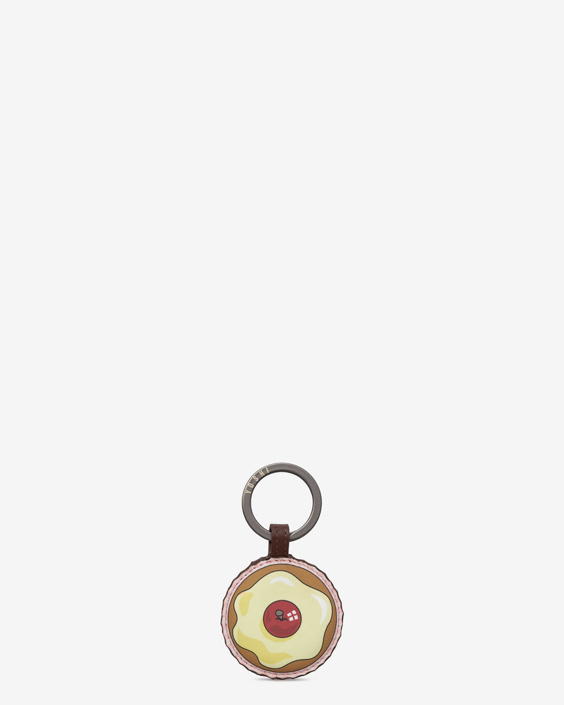 Afternoon Tea Cupcake Brown Leather Keyring - Brown - Yoshi