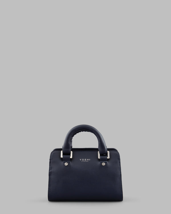 Amberg Navy Leather Grab Bag A
