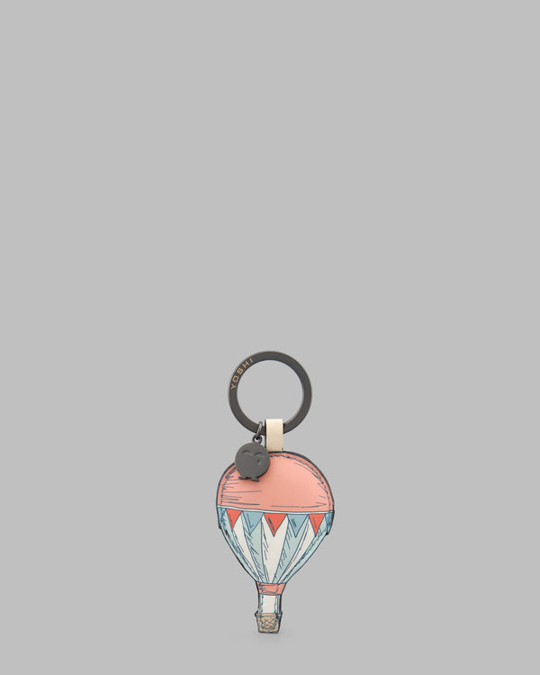 Amongst the Clouds Cream Leather Keyring A