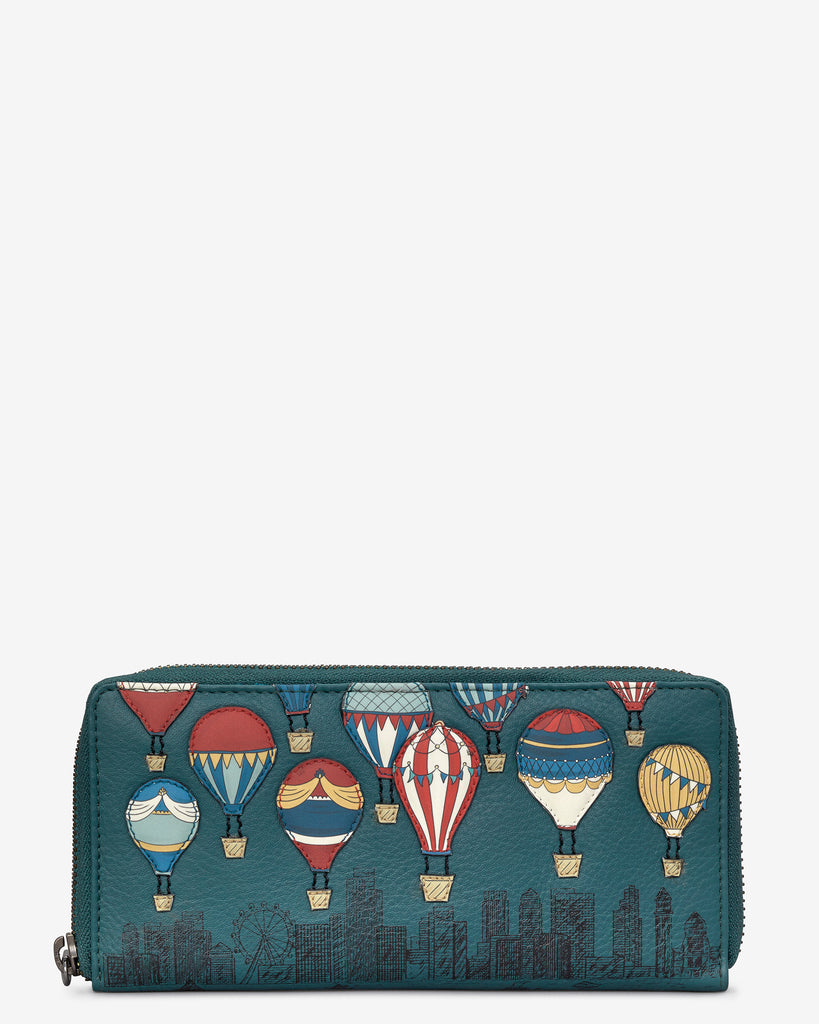 Amongst The Clouds Teal Leather Baxter Purse - Teal - Yoshi