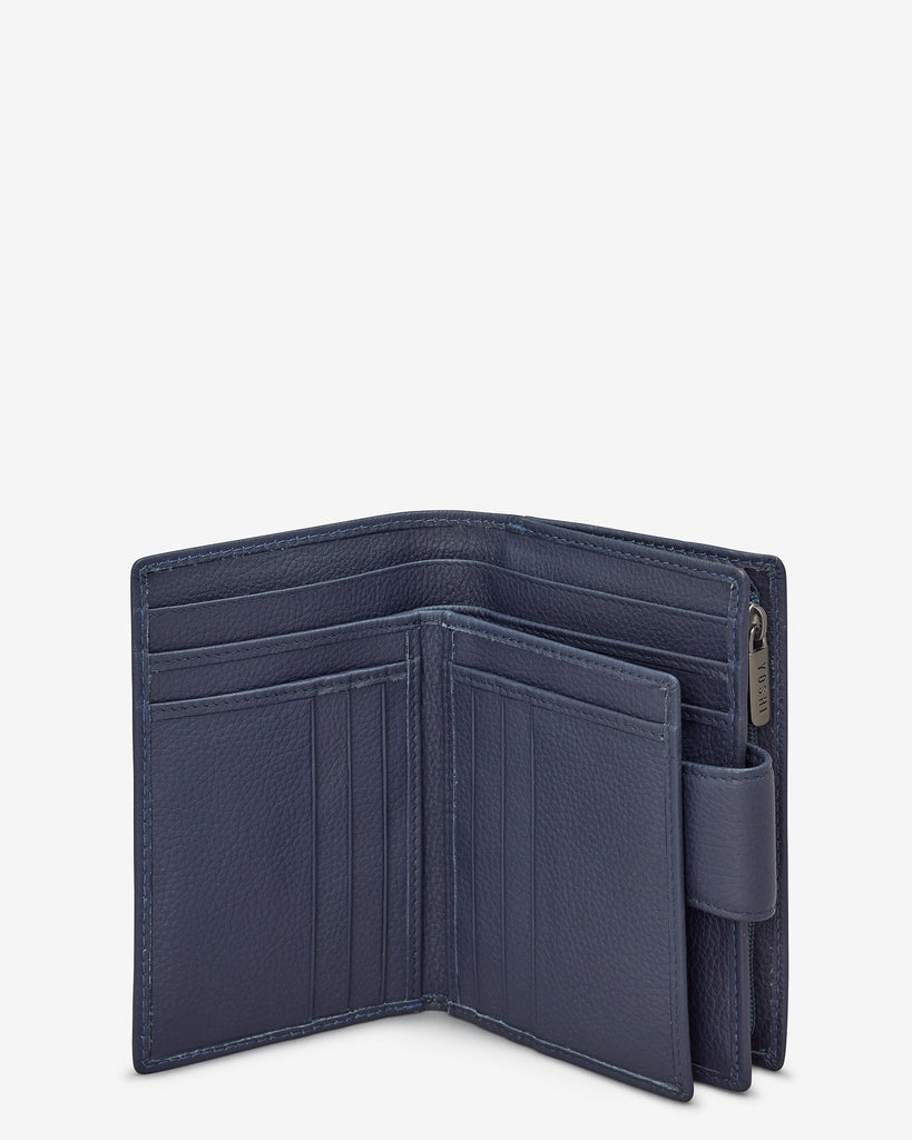 Navy Leather Anson Purse - Yoshi