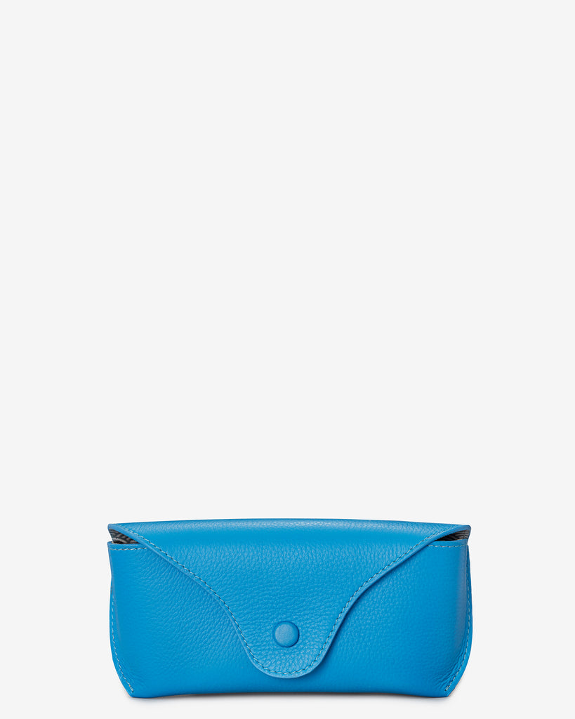 Cobalt Blue Leather Atlantic Glasses Case - Yoshi