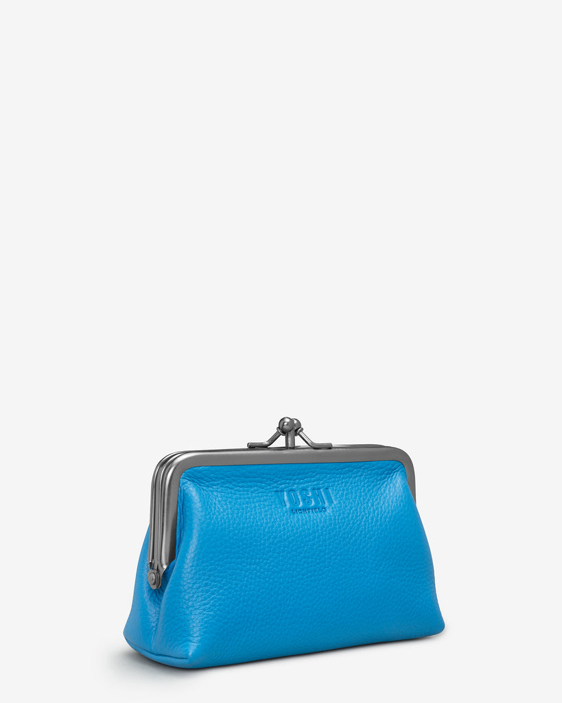 Cobalt Blue Leather Aubrey Frame Purse - Yoshi