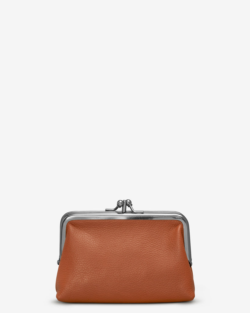 Tan Leather Aubrey Frame Purse - Yoshi