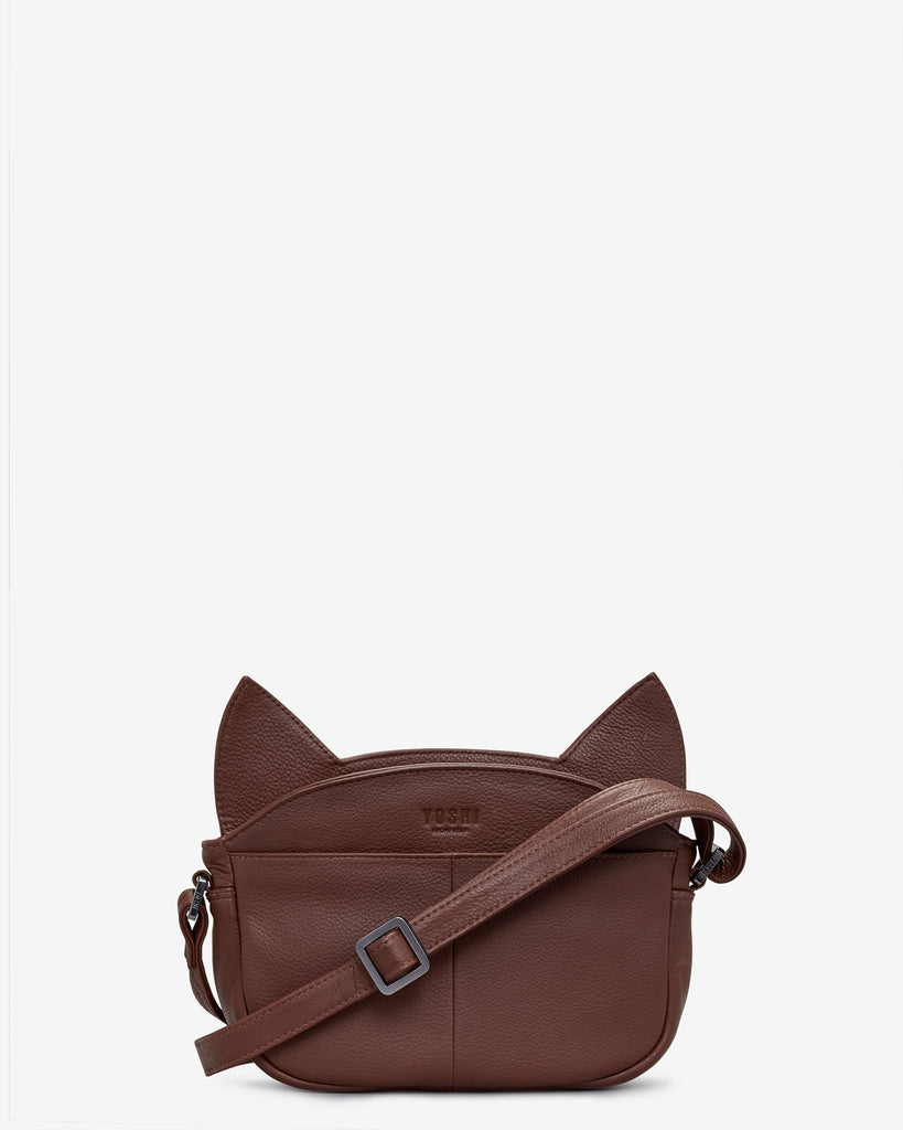 Augustus The Cat Leather Cross Body Bag -  - Yoshi