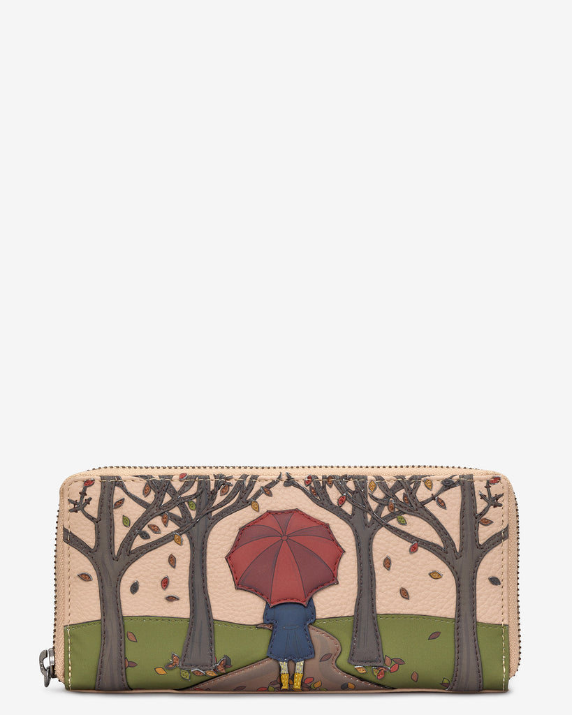 Autumn Girl Frappe Leather Baxter Purse - Frappe - Yoshi