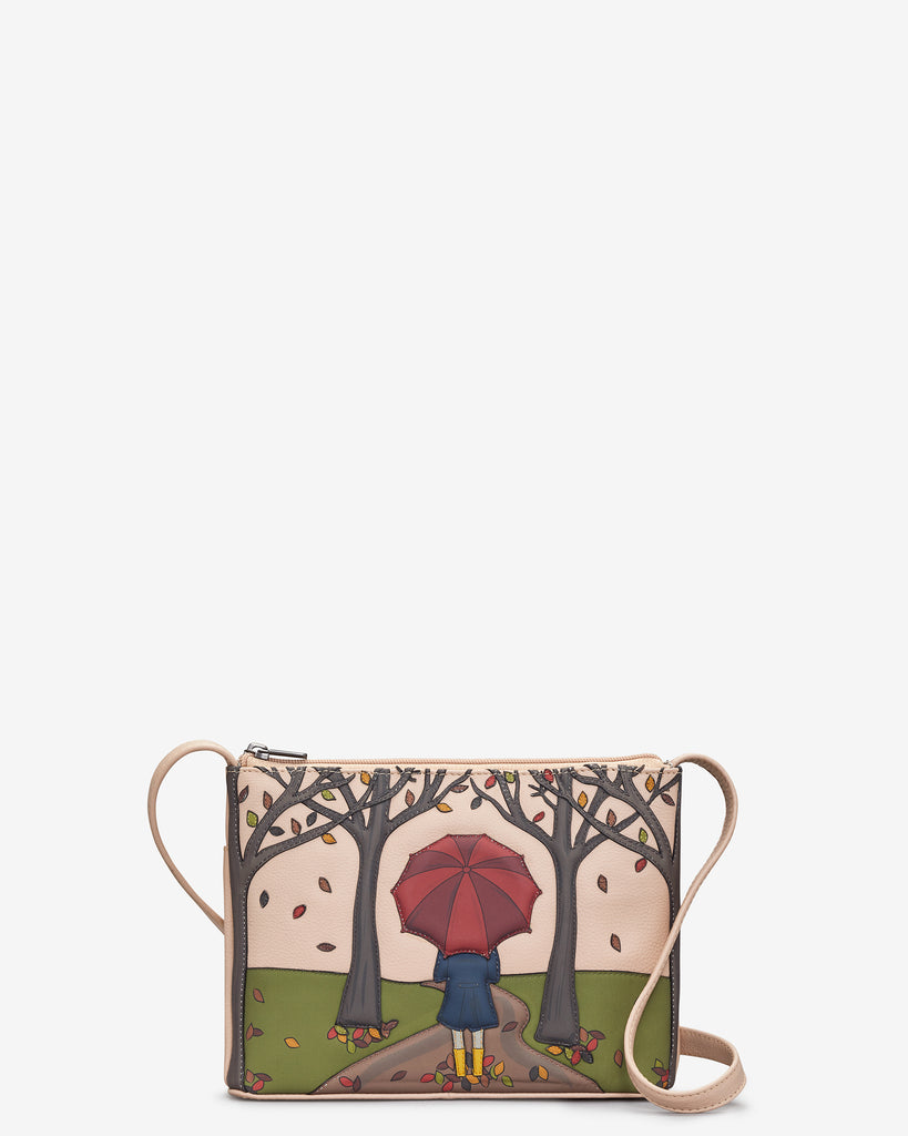 Autumn Girl Frappe Leather Cross Body Bag - Frappe - Yoshi