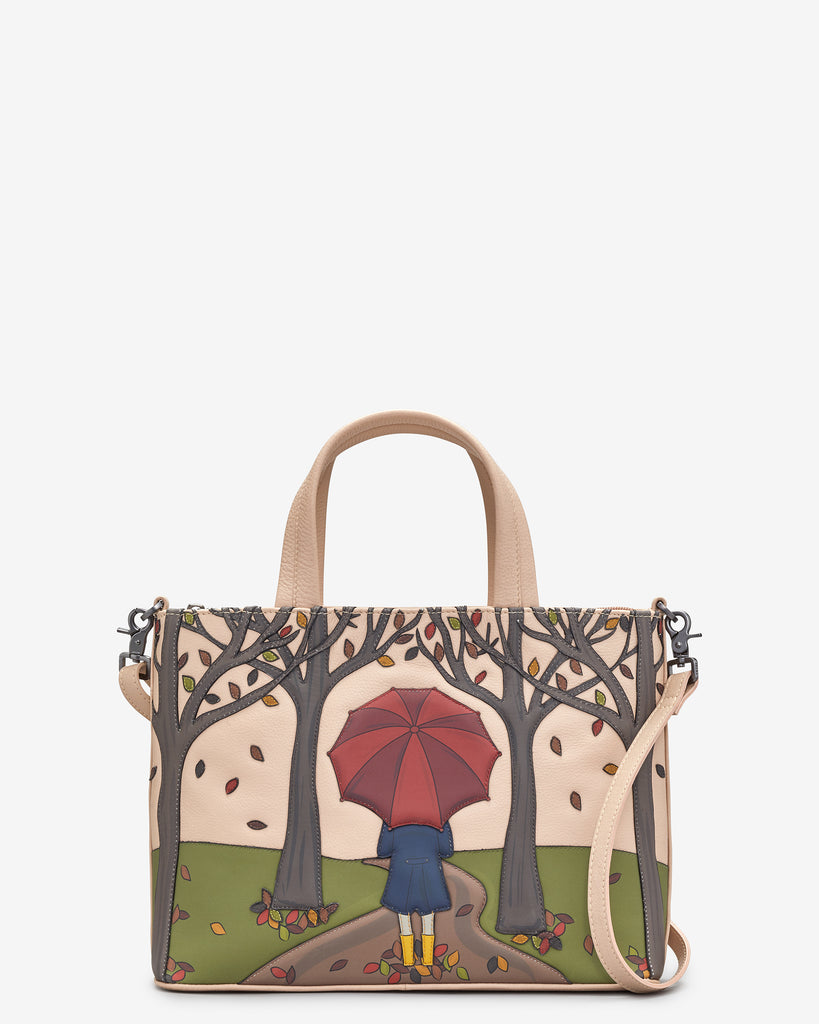 Autumn Girl Frappe Leather Multiway Grab Bag - Frappe - Yoshi