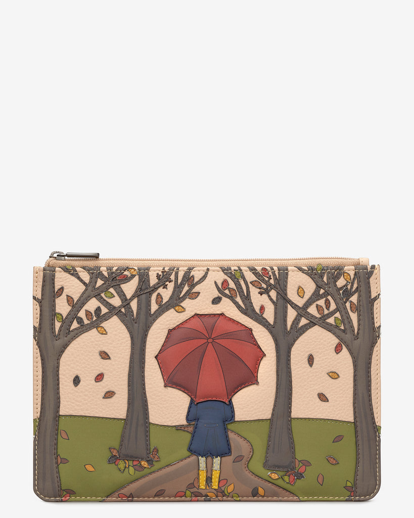 Autumn Girl Frappe Leather Brooklyn Pouch - Frappe - Yoshi