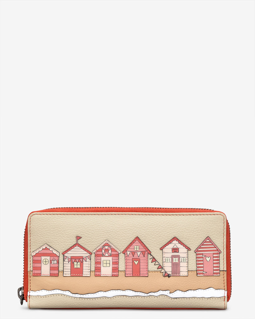 Beach Life Coral Leather Baxter Purse - Coral - Yoshi