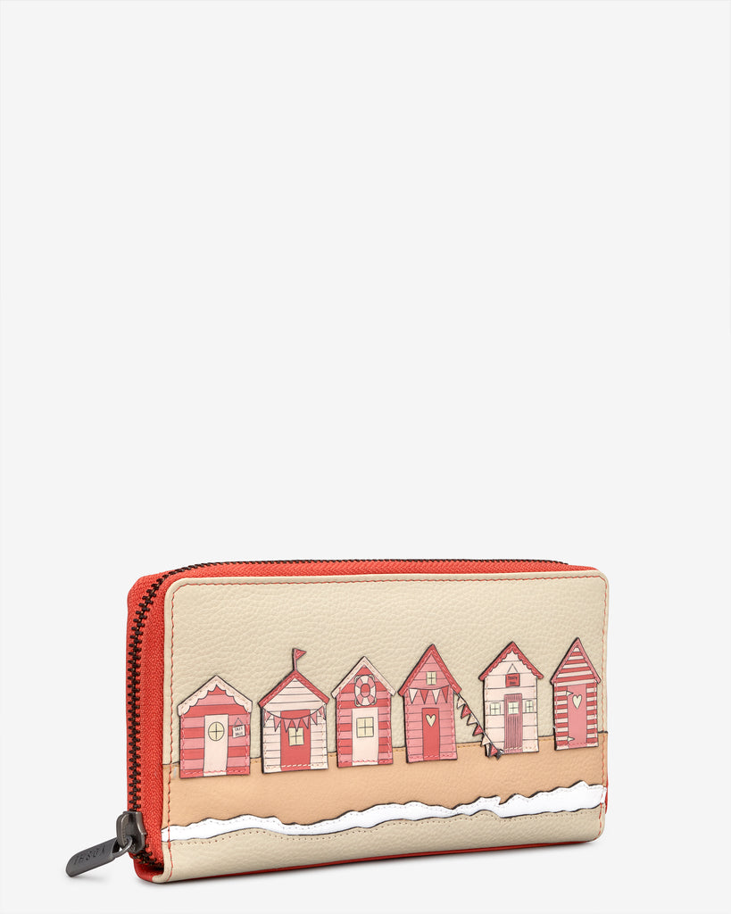 Beach Life Coral Leather Baxter Purse -  - Yoshi