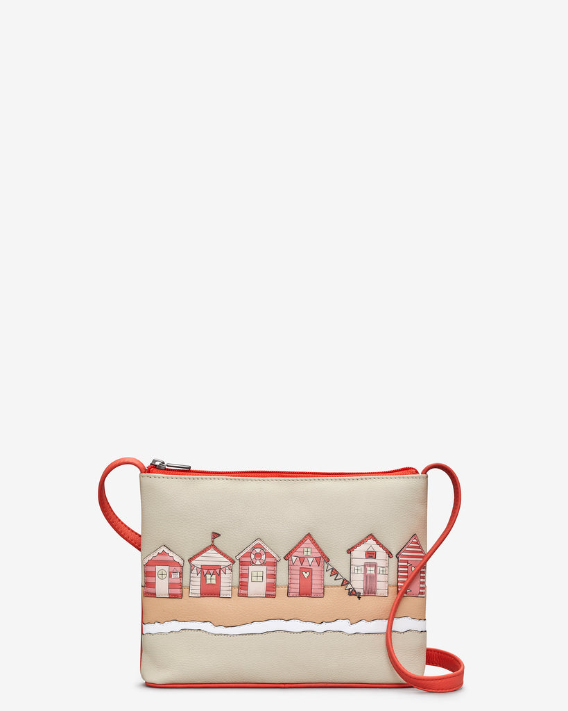 Beach Life Coral Leather Cross Body Bag - Coral - Yoshi