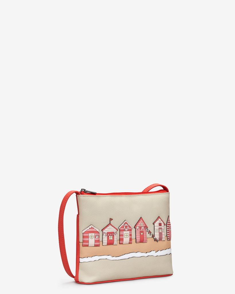 Beach Life Coral Leather Cross Body Bag -  - Yoshi