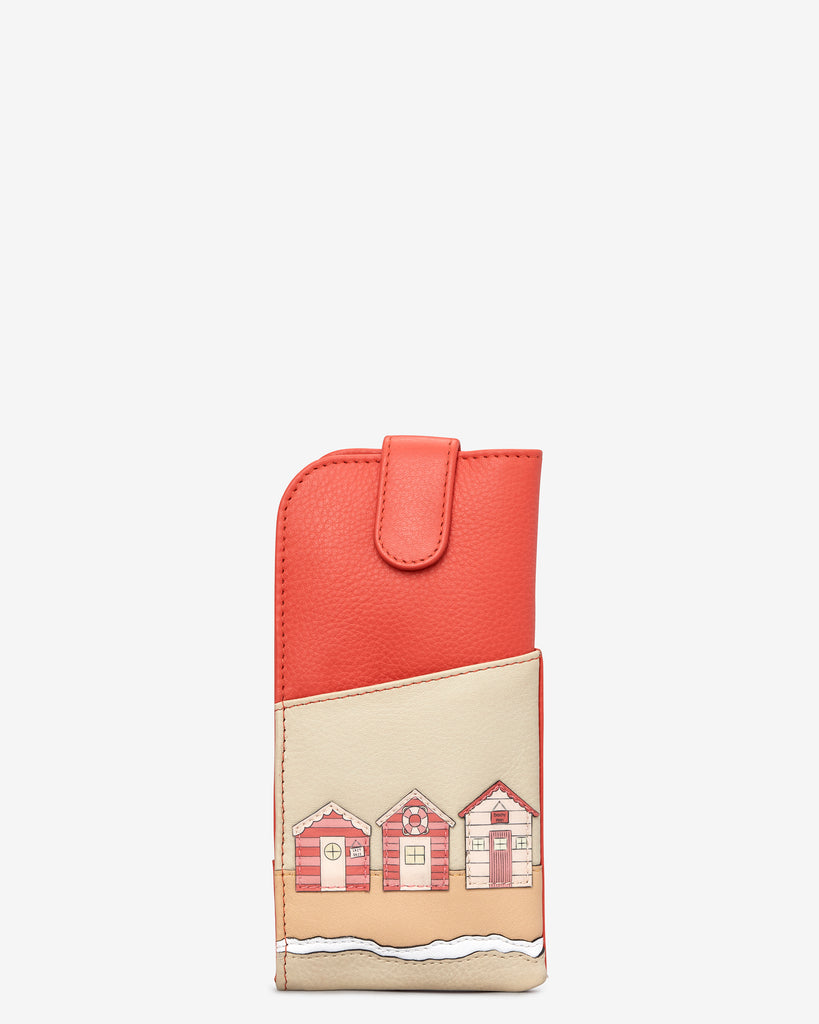 Beach Life Coral Leather Chilton Glasses Case - Coral - Yoshi