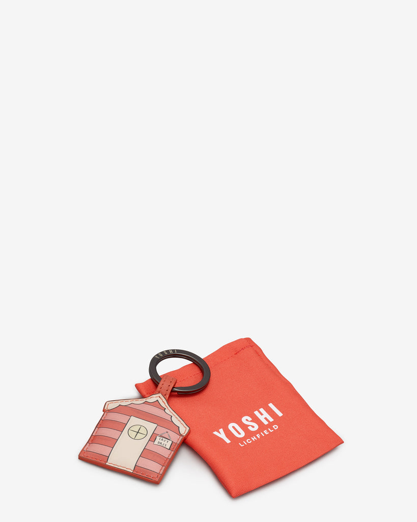 Beach Life Coral Leather Keyring -  - Yoshi