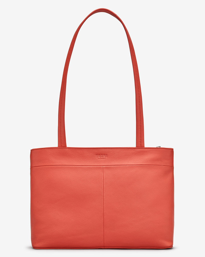 Beach Life Coral Leather Shoulder Bag -  - Yoshi