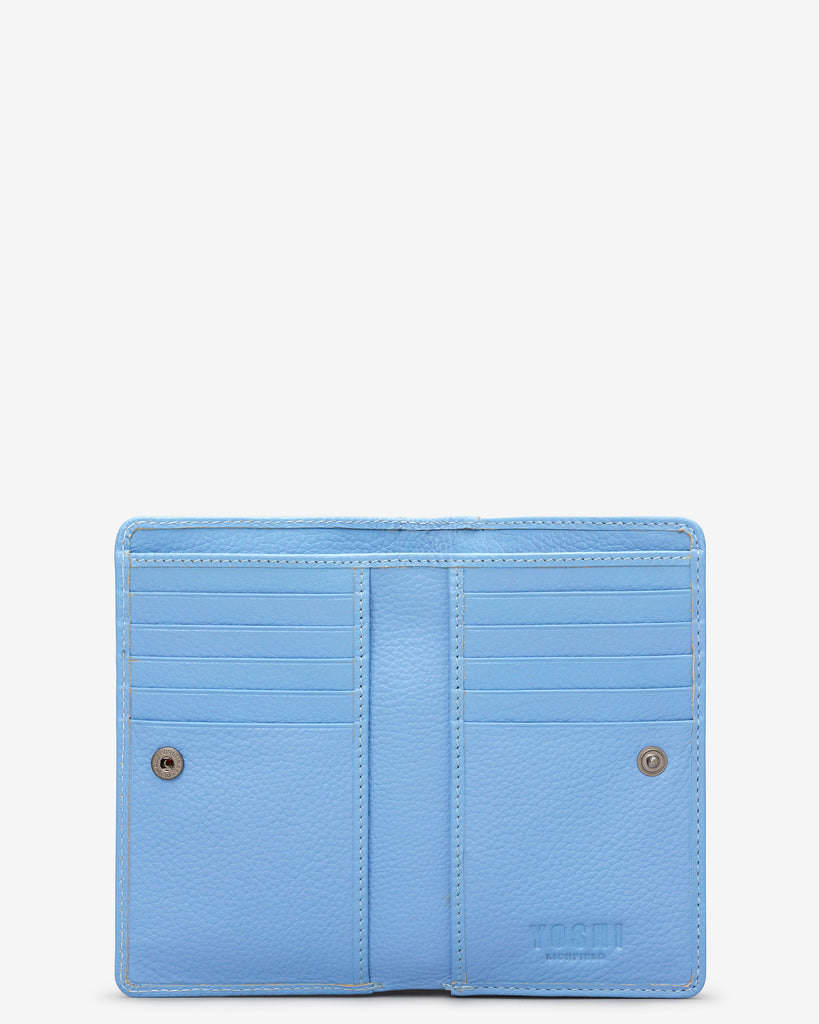 Bee Happy Blue Leather Oxford Purse - Yoshi