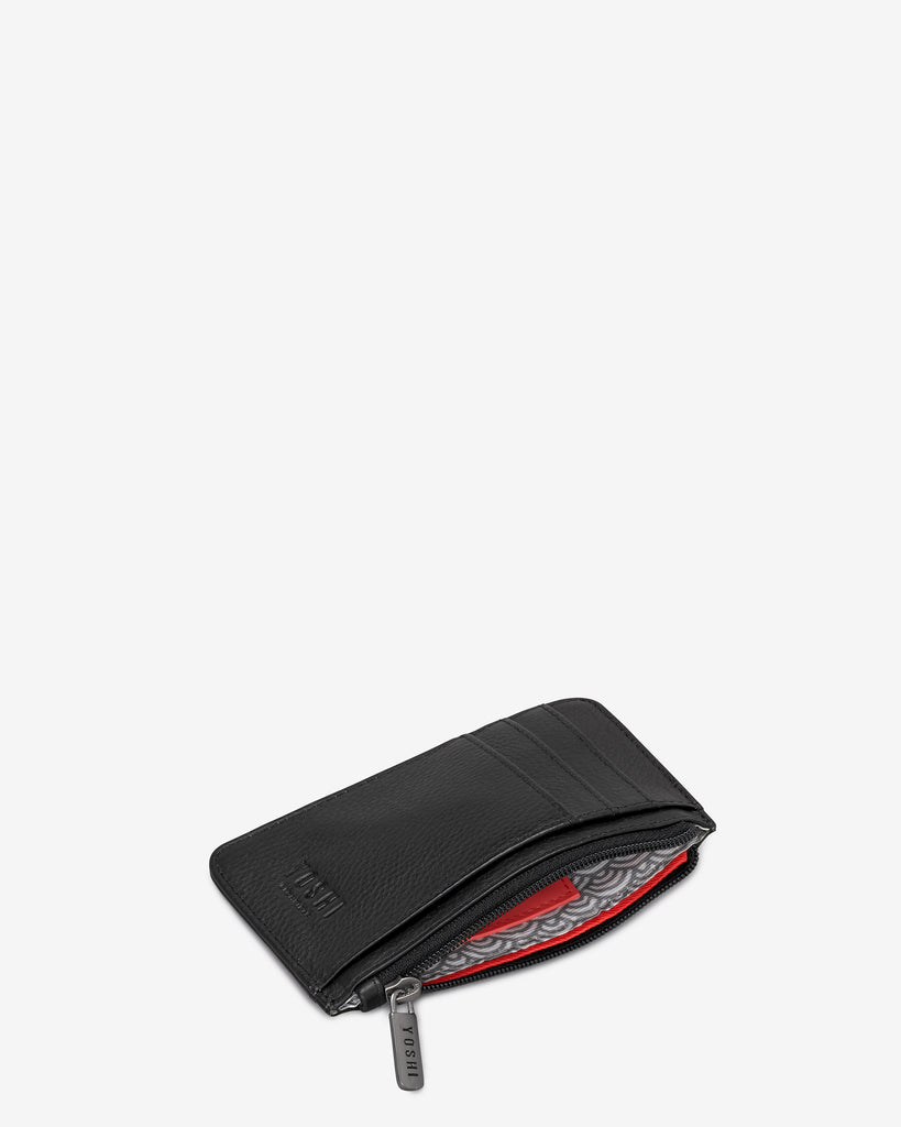 Black Leather Morton Card Holder -  - Yoshi