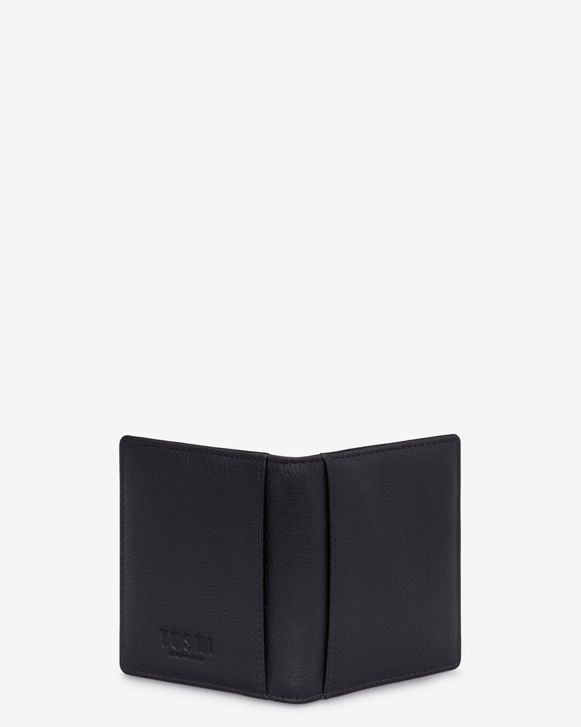 Black Leather Steinway Card Holder - Yoshi