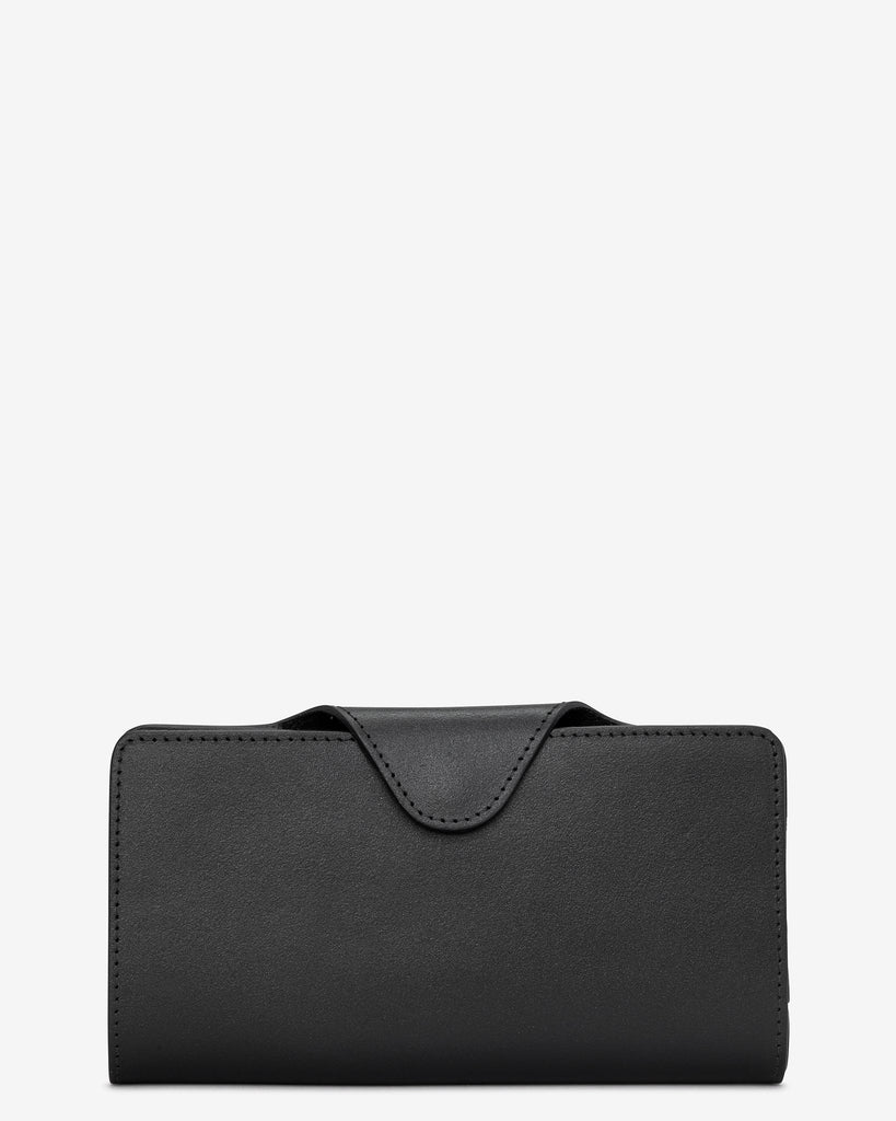 Black Satchel Leather Purse - Yoshi