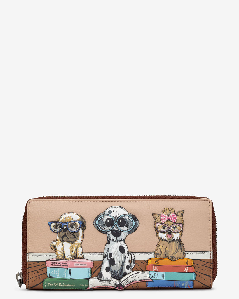 Bookhound Gang Brown Leather Baxter Purse - Brown - Yoshi