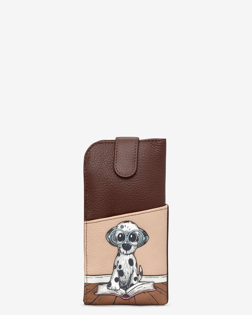 Bookhound Gang Brown Leather Chilton Glasses Case - Brown - Yoshi