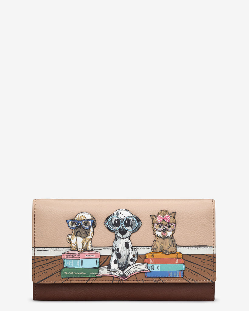 Bookhound Gang Brown Leather Hudson Purse - Brown - Yoshi