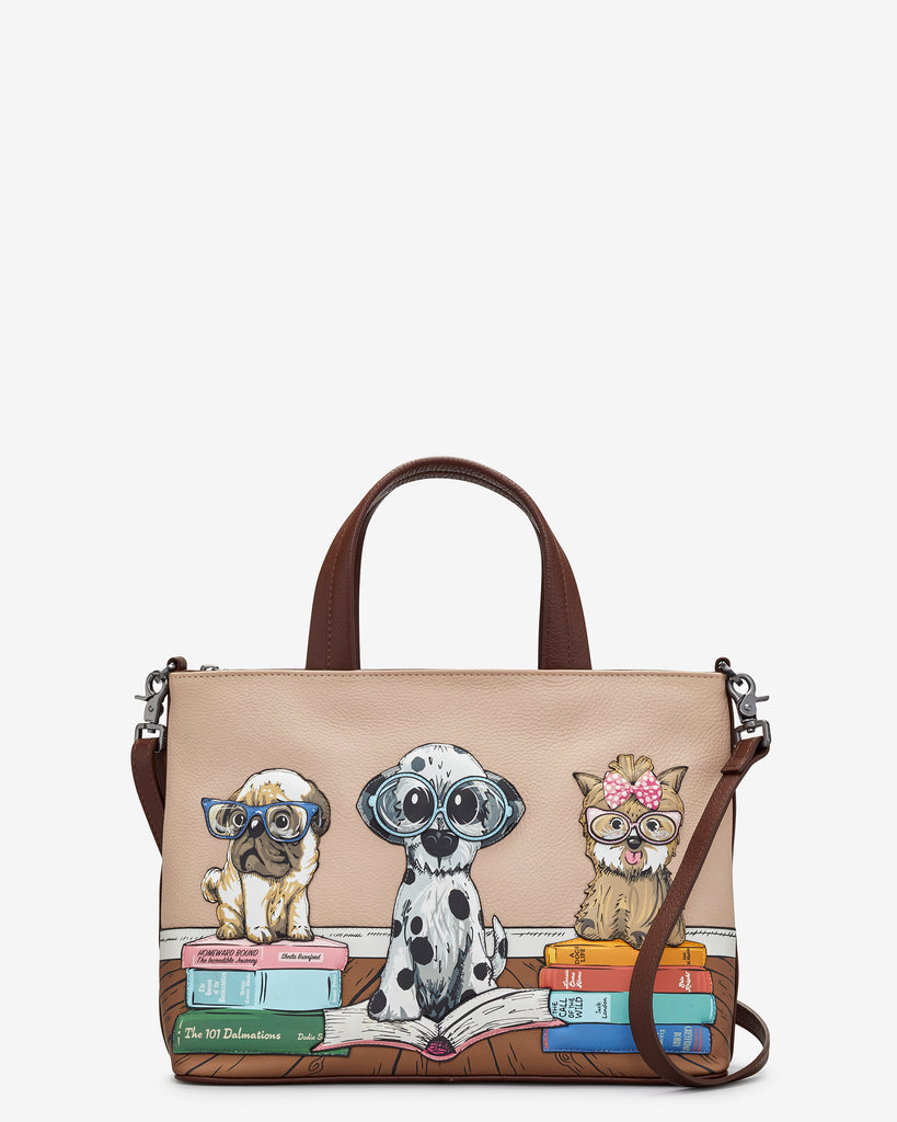 Bookhound Gang Brown Leather Multiway Grab Bag - Brown - Yoshi
