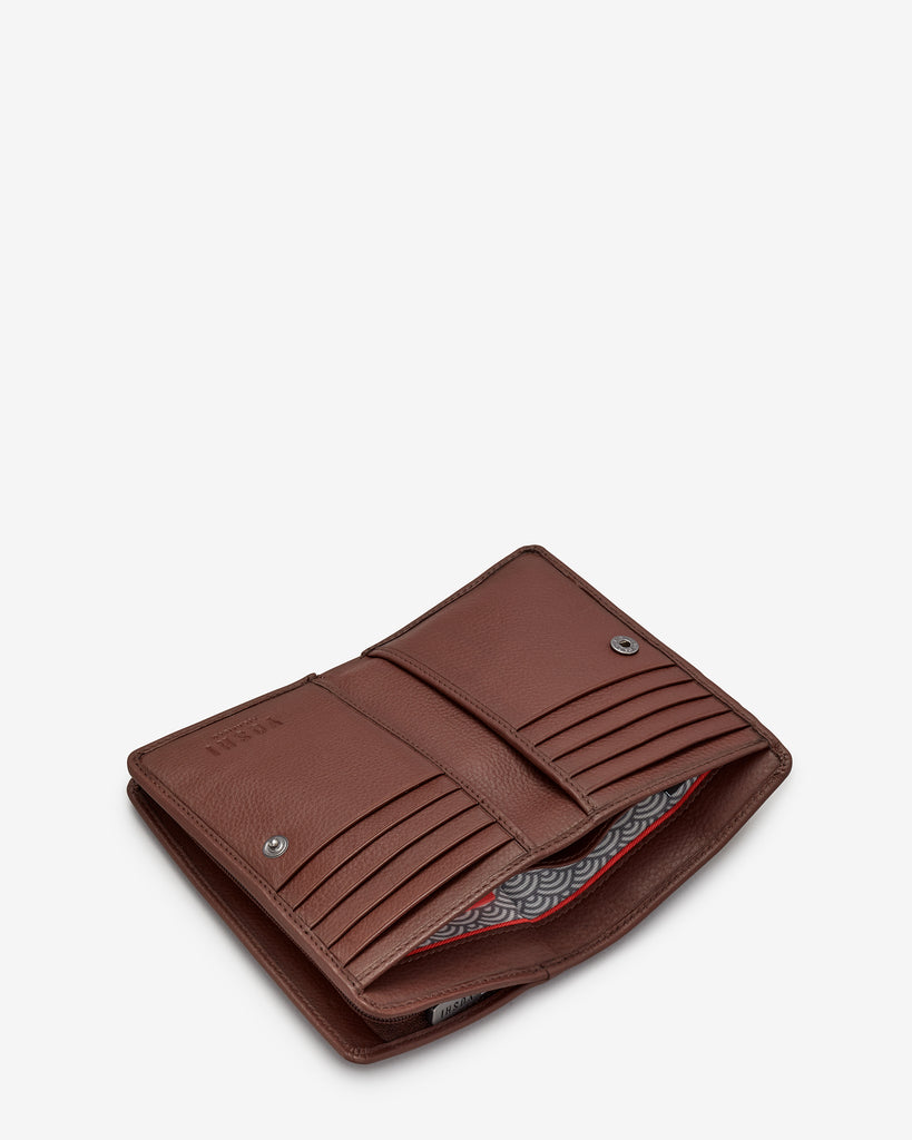Bookhound Gang Brown Leather Oxford Purse - Yoshi