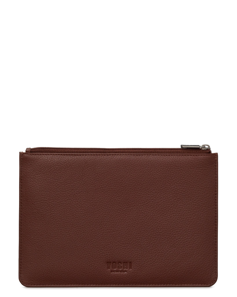 Bookhound Gang Brown Leather Brooklyn Pouch -  - Yoshi